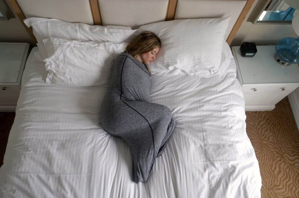 Hug Sleep swaddle for adults. So much better than weighted blankets!